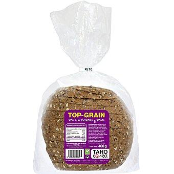 TAHO CEREAL Top Grain pan integral con cereales y pasas  envase 400 g