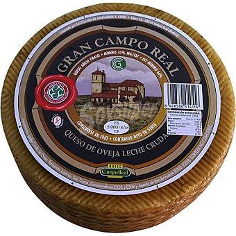CAMPO REAL Gran Reserva Queso de oveja curado graso  3 kg (peso aproximado pieza)