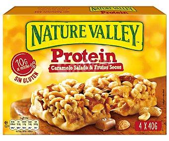 Nature Valley Barrita de cereales caramelo salado y frutos secos protein 4 x 40 g