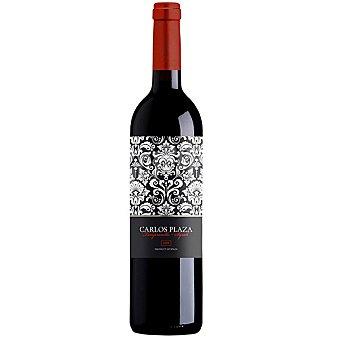 CARLOS PLAZA Vino tinto joven tempranillo syrah de Extremadura botella 75 cl Botella 75 cl