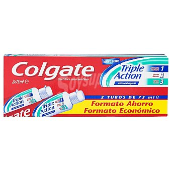Colgate Dentífrico Triple Acción Tubo Duplo Pack de 2x75 ml