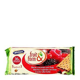 McVities Galletas rellenas de frutos del bosque Fruit & Form 195 g