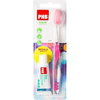 Phb Plus cepillo dental suave 1 unidad + regalo pasta dental 15ml 1 unidad