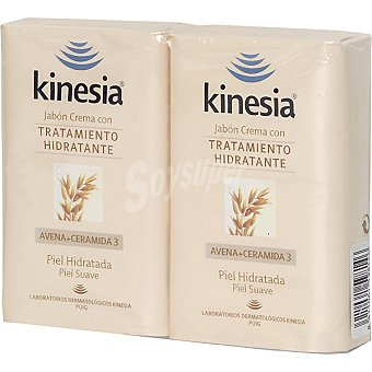 Kinesia Pastilla de jabón de avena hidratante ds. 125 g Pack 2 un