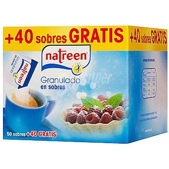 Natreen Aspartamo edulcorante granulado en sobres 50 sobres de 1 g + 40 gratis