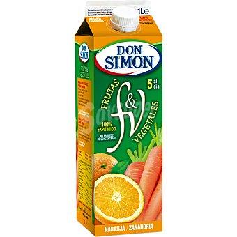 DON SIMON zumo de naranja y zanahoria Botella de 1 l