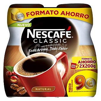 Nescafé Café soluble natural classic Nescafé uniadades de 200 G Pack de 2