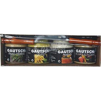 GAUTSCHI Surtido de salsas + regalo pincho Pack 4 frasco 115 g