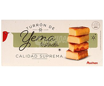 Auchan Turrón de yema tostada 300 gramos