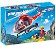 Escenario de juego Helicóptero de rescate de montaña con figuras y accesorios, Action 9127 playmobil  Playmobil
