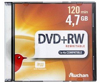 AUCHAN DVD+RW 4X 4,7GB Pack 5