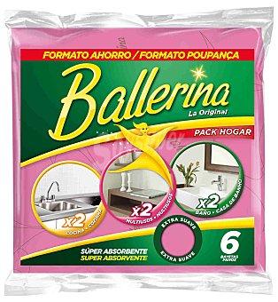 Ballerina Ballerina Bayeta Pack Hogar 6 uds 6 ud