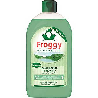 Froggy Limpiador multiusos concentrado ph neutro ecológico superficies delicadas Botella 500 ml