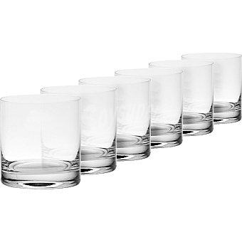 CASACTUAL Bohemia Vasos bajos de cristal 400 ml set 6 unidades 400 ml