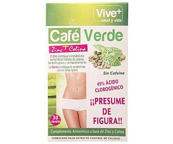 Viveplus Complemento nutricional a base de café verde 30 cápsulas 15,30 gramos