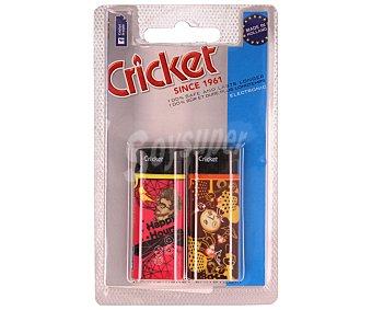 Cricket Mecheros electrónicos con sistema de seguridad anti-niños 2 unidades