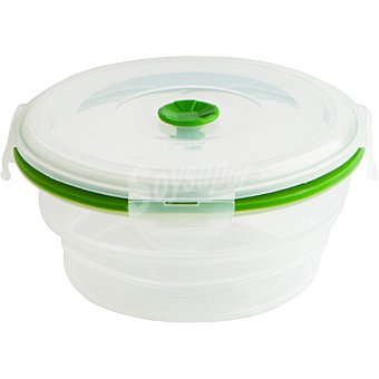 QUID In & Out Hermético Plegable en color blanco y filo verde 0,8 l