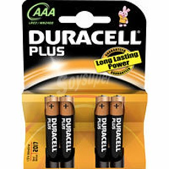 AAA DURACELL Plus Power Pila alcalina Pack 4 unid