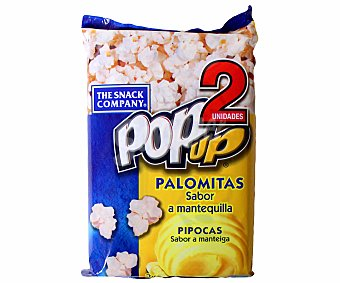 POP UP Palomitas de mantequilla 2 x 100 gramos