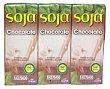 Bebida soja con chocolate Pack 6X200 cc - 1200 cc Hacendado