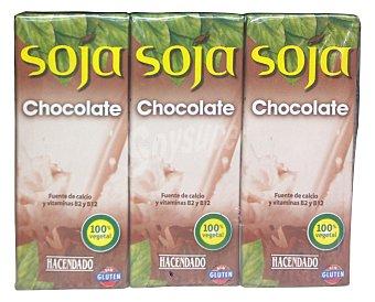 Hacendado Bebida soja con chocolate Pack 6X200 cc - 1200 cc