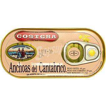 Costera Filetes de anchoa en aceite de oliva Lata 28 g neto escurrido