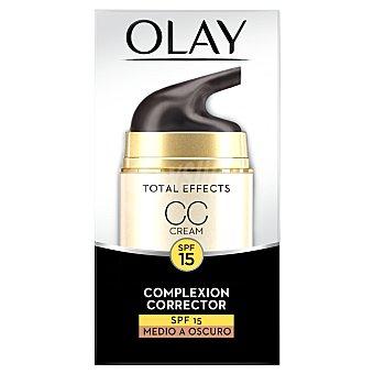Olay Crema facial anti-edad más color corrector, tono medio a oscuro 50 ml