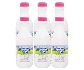 Central Lechera Asturiana Leche desnatada 0.0% MG Pack 6 botellas x 1.5 l