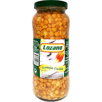 Lozano lentejas cocidas frasco 560 g neto escurrido