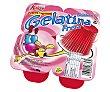 Gelatina de origen animal sin gluten y con sabor a fresa Pack 4 uds  x 100 g Kalise