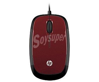HP H6F01AA Ratón óptico con cable USB Rojo