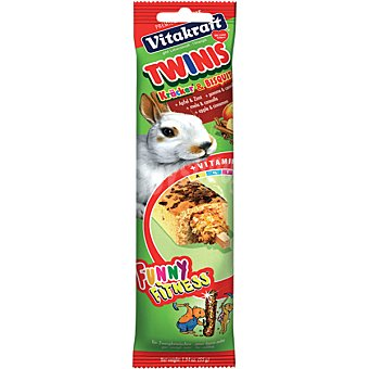 VITAKRAFT TWINIS Bizcocho + barrita para conejos paquete 1 unidad Paquete 1 unidad