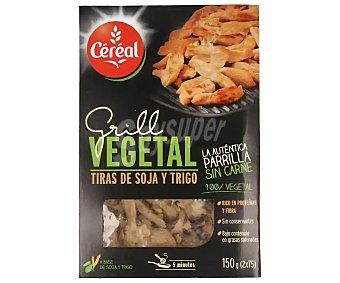 Cereal Bio Tiras de soja y trigo 100% vegetales rico en proteínas y fibra 2 unidades de 75 gramos