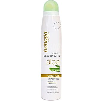 Babaria Desodorante Original con Aloe Vera sin alcohol Spray 200 ml