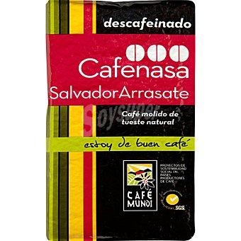 Cafenasa Café descafeinado natural molido Salvador Arrasate paquete 250 g Paquete 250 g