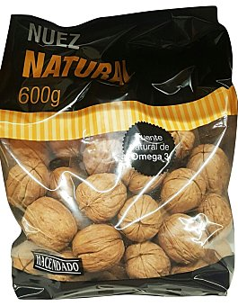Hacendado Nuez natural con cascara (nueva cosecha) Paquete 600 g