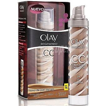 Olay Crema anti-edad FP-15 + serúm + maquillaje corrector dosificador tono de piel oscuro 50 ml