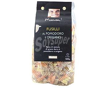 Mmm Auchan Fusillis, pasta de sémola de trigo duro de calidad superior al tomate y orégano 500 Gramos
