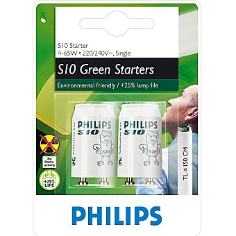 PHILIPS S10 Green Starters Cebador para fluorescentes 4-65 W