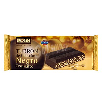 Hacendado Turrón de chocolate negro crujiente  Pastilla 250 g
