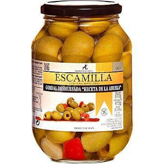 """Escamilla Aceitunas gordal deshuesadas """"Receta de la Abuela"""" envase 415 g neto escurrido envase 415 g neto escurrido"""