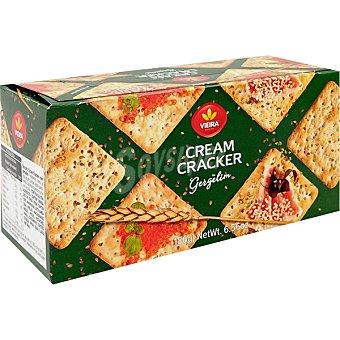 Vieira Cream Crackrer con sésamo Paquete 186 g