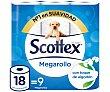 Papel higiénico mega Paquete 9 rollos Scottex