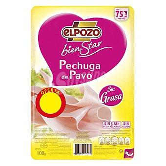 EL POZO-BIENSTAR Pechuga de pavo lonchas sin grasa 100 g
