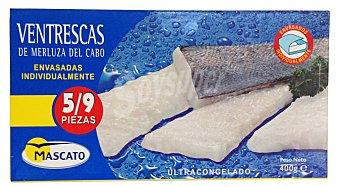 Mascato Merluza congelada ventrescas  Caja de 5/9 unidades