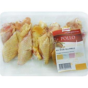 Coren Alas partidas de pollo amarillo bandeja 400 g peso aproximado Bandeja 400 g