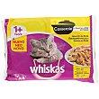 Comida para gatos húmeda selección aves Pack 4 tarrinas x 100 g Whiskas