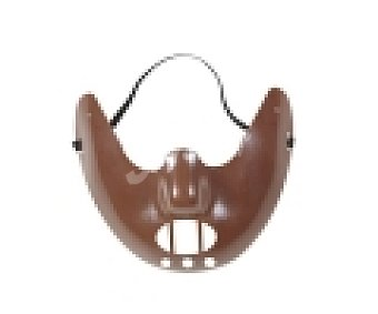 Widmann Máscara de media cara Hannibal Lecter Canibal, Halloween 1 unidad