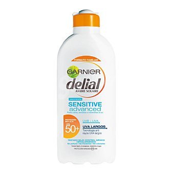 Delial Garnier Leche solar proctectora pieles intolerantes al sol FP 50+ 400 ml