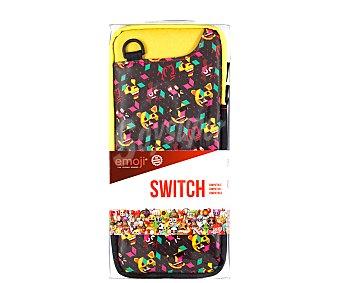 Indeca Funda de trasnporte para Nintendo Switch con estampado Emoji